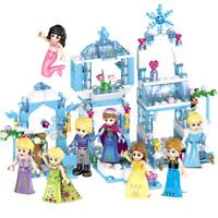 Baukästen Figur Frozen Prinzessin Eisburg Gebäude Meerjungfrau Spielzeug Modell