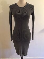 Cos Long Sleeve Sweater Dress In 'Washed Black' Size Small