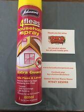Johnsons Flea Killer Spray 4Fleas Household IGR Extra Treatment 600ml