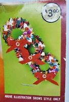 Walco Holiday WREATH WITH BOW Green Vintage Sequin Bead Christmas Ornament Kit