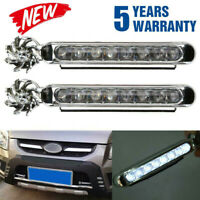 2x Wind Power LED Car Daytime Running Light Fog Lamp Car DRL Driving Day Lights