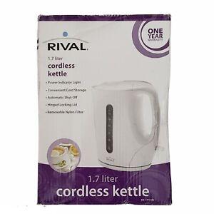 Rival Cordless Kettle 1.7 Liter, Power Indicator Light, Auto Shut-Off (New)