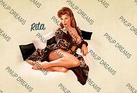 "Poster Wall Pin-Up Art ""Rita"" Vintage Retro Cult Pinup Model re-print A4 A3 A3+"