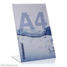 5x DIN A4 Werbeaufsteller / L-Ständer / L-Aufsteller aus hochwertigem Plexiglas®