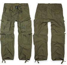 Pantalon treillis Brandit Pure Vintage Trouser Cargo 8 Couleurs aux choix Vert S