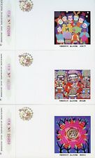 CHINA PRC 1995 LUNAR NEW YEAR OF THE PIG LOTTERY SET OF 12 POSTCARD AS SHOWN