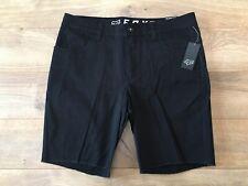 FOX Racing Dagger 2.0 Shorts Black Denim Mens Slim Fit SZ 34 ( S23078-001 ) NEW!