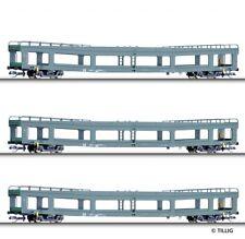 Tillig TT scale Set of 3 Automobile transport cars DR