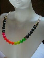 Lucky Star Jewels Necklace Neon Chakra Highlighter Gold Chain w Crystal NWT $170