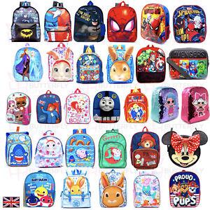 KIDS CHILDREN'S TODDLERS JUNIOR CHARACTER BACKPACK RUCKSACK LUNCH SCHOOL BAG