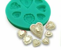 Heart Shape Diamond Silicone Mould Fondant Cake Decorating Tools Candy Clay Mold