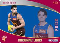 2020 AFL TEAMCOACH TEAM COACH PRIZE CARD BRISBANE LIONS LACHIE NEALE P02B