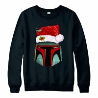 Star Wars Christmas Jumper, Boba Fett Xmas Gift Festive Adult & Kids Jumper Top