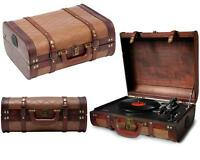 Plattenspieler Schallplattenspieler Retro Holz Nostalgie Kofferplattenspieler