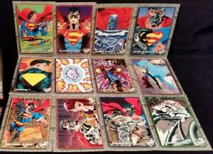 1993 SKYBOX THE RETURN OF SUPERMAN COMPLETE BASE SET OF (100) CARDS