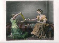 «The skein-winder» grabado por J.C. Thevenin sobre obra de P.P. Hamon