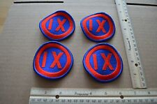 Lot of 4 US Army 9th Army Corps Unit Patches Color
