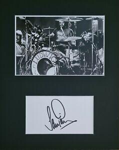 Ian Paice 'Deep Purple', hand signed mounted autograph.
