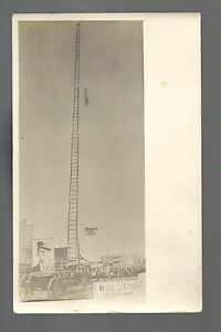 RPPC 1910 ADVERTISING Charles Strahl HIGH DIVER Diving CIRCUS Carnival SIDESHOW