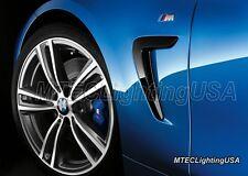 New Genuine BMW M-Tech Performance Fender M Emblem Logo Badge Set