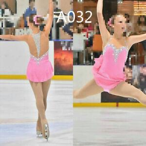lce Skating Dress Purple Girls Competition Figure Skating Dresses Costume