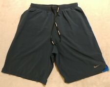 NIKE Running DRI-FIT Brief Lined Shorts Blue Men's Size Small EUC.