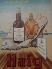 Vintage mounted print HAIG Scotch Whisky Christmas Dimple Xmas pearl bottle 1949