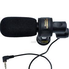 Pro DV Stereo Microphone Canon EOS 5D Mark II III 7D 6D 60D 760D 70D 80D 750D 2D