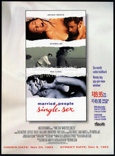 MARRIED PEOPLE, SINGLE SEX__Original 1993 Trade AD movie promo__CHASE MASTERSON