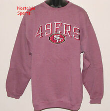 Vintage 90s SF San Francisco 49ers PRO PLAYER Sweatshirt SEWN LETTERS NWT NOS