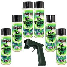 Wachs Spraydosen Unterbodenschutz 6x500ml  für Autolack PORTOFREI mit Haltegriff