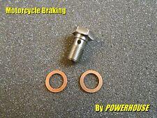 1x Stainless steel Banjo Bolt M10 x 1.0mm Hex Honda Suzuki Ducati Aprilia KTM