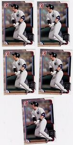 Lot of 5 2015 Bowman Aaron Judge  New York Yankees# 150