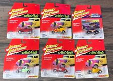 Lot of 6 Johnny Lightning 1:64 Cars Hot Rods Die-Cast T-Bucket  Roadster  Coupe