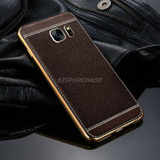 Luxury Ultra-thin Slim Leather Soft TPU Back Case Cover For Samsung Galaxy S001