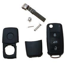 Neu Fernbedienung Sendeeinheit Gehäuse 3 Tasten Auto Klapp Schlüssel für VW A30