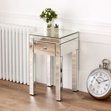 Venetian Mirrored Small 1 Drawer Lamp Table - Bedside Storage - BRAND NEW VEN94