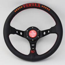 Vértice de 13 in (approx. 33.02 cm) Cuero Real de Carreras Rally profundo volante tuning de coche de carreras