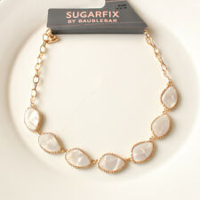Sugarfix by BaubleBar Resin Statement Necklace White - Acrylic Material