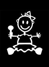 Figura de palo de Mi Familia Coche Ventana Parachoques Vinilo Calcomanía Pegatinas BG1 Bebé Niña