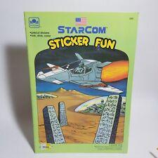 Vintage 1988 STARCOM Star Com STICKER FUN BOOK - UNUSED NOS