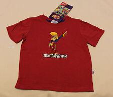 Brisbane Lions AFL Boys Mascot Maroon Short Sleeve Printed T Shirt Size 4 New