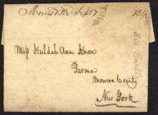 US Stampless folded letter w/Morrisville (NY) script pmk to Parma, NY