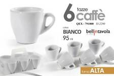 Set 6 tazzine Caffe' Tazze alte bianche Bar Casa 95 ml Gicos 791000