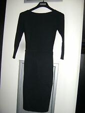DKNY Donna Karan Black Sweater Bodycon Dress - Size S