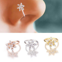 Cartilage Earring Conch Stud Piercing Jewelry Crystal Flower Hoop Tragus Nose
