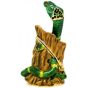Snake Diamanti Jewelled Trinket Box or Figurine approx 8cm H