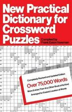 New Practical Dictionary for Crossword Puzzles : More Than 75,000 Answers to...