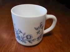 "Arcopal France GLENWOOD Set of 3 Mugs 3 1/2"" Blue Flowers Rimmed"
