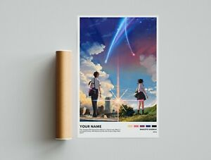 Your Name - Makoto Shinkai - Minimalist Anime Poster - Vintage Retro Art Print